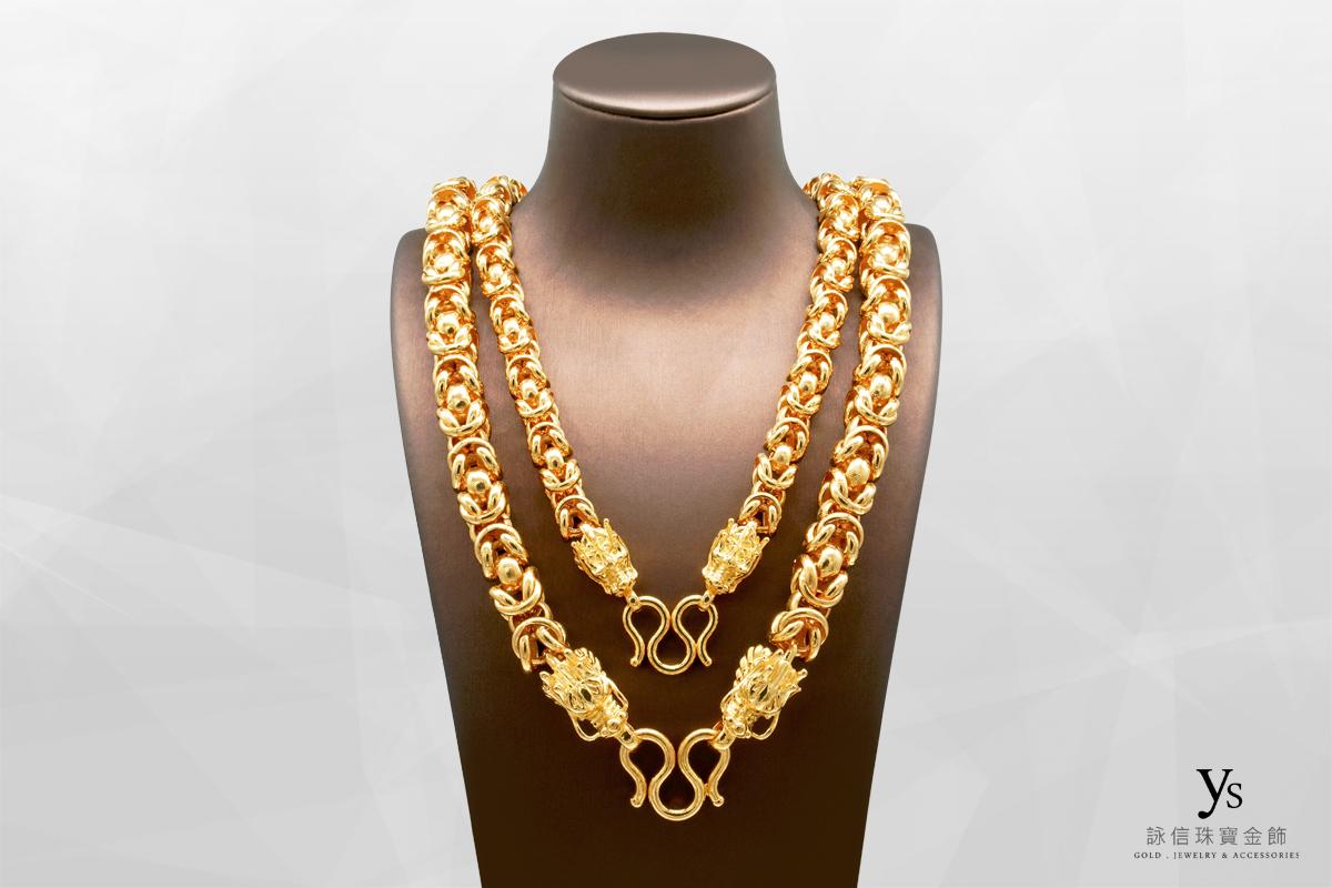 男生黃金項鍊-香港五兩龍鍊、八兩龍鍊