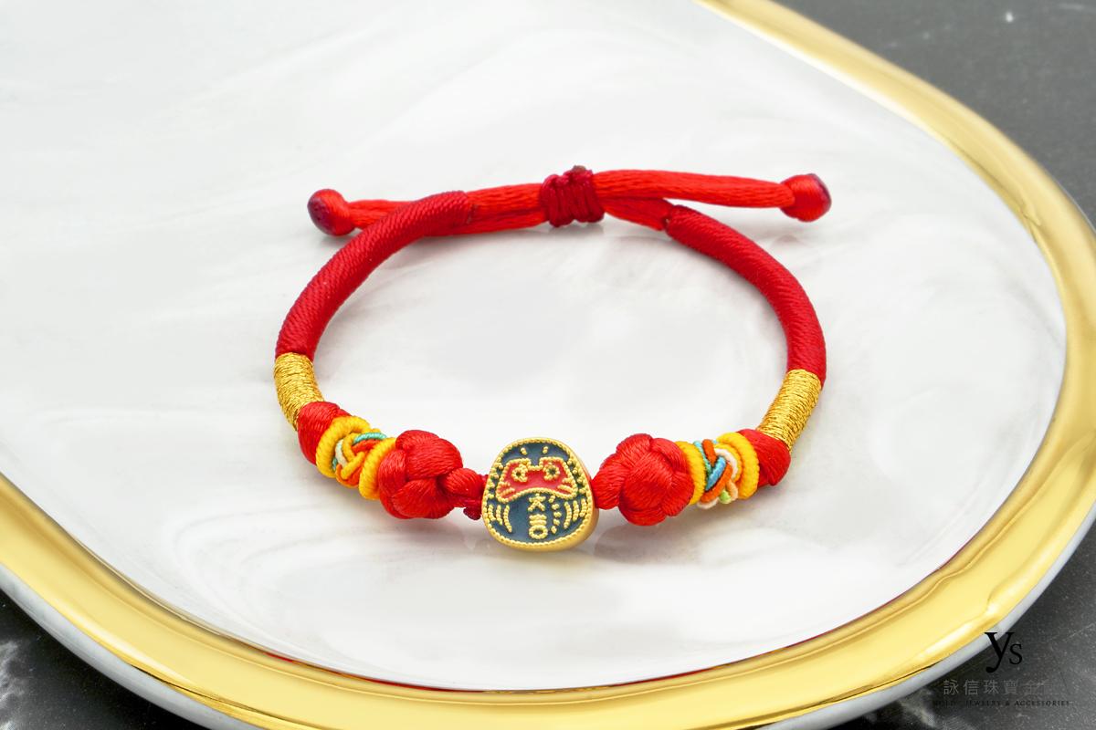彌月金飾-不倒翁造型黃金手繩