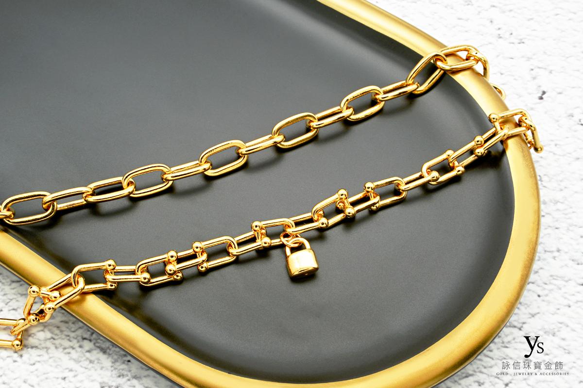 黃金手鏈-歐美風女生黃金手鍊