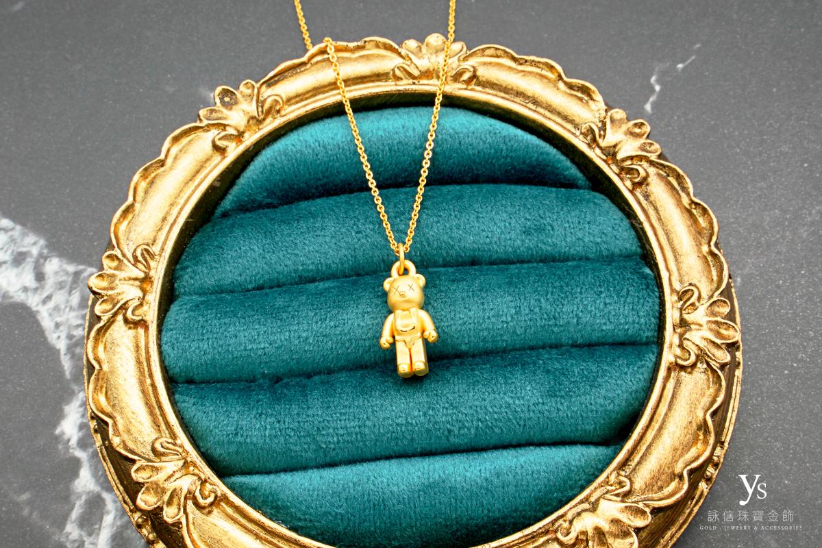 黃金項鍊-公仔黃金墜