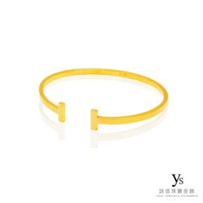 手工金飾-素面黃金手環(平面)