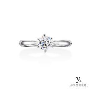 求婚鑽戒-經典六爪鉑金鑽戒