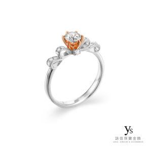 訂婚鑽戒-古典浪漫鉑金、玫瑰金鑽戒