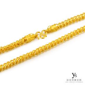 黃金項鍊-手工龍頭黃金項鍊