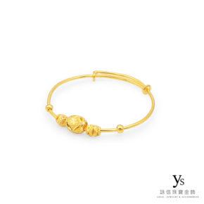 彌月金飾-寶寶小金珠黃金手環