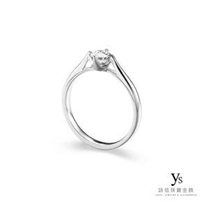 訂婚鑽戒-極簡四爪鉑金鑽戒