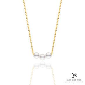黃金項鍊-極簡黃金珍珠項鍊