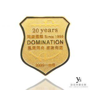 客製化金幣訂做-盾牌黃金金幣訂做