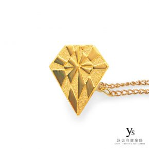 客製化金飾-鑽石造型黃金徽章訂做