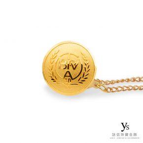 客製化金飾-黃金胸章訂做